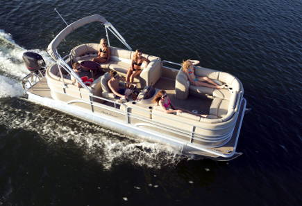 Rent a Sunchaser Pontoon Boat in Lake Country, Okanagan